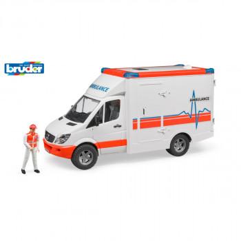Bruder 2563 MB Sprinter ambulance s řidičem