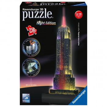 Ravensburger 3D Empire State Building Noční edice 216 dílků
