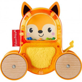 Fisher Price zvířátka na kolečkách oranžové se zvonečkem