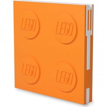 LEGO® 2.0 Zápisník s gelovým perem jako klipem oranžový