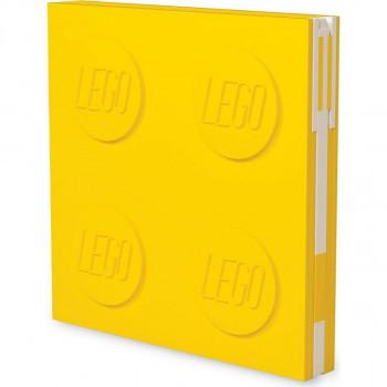 LEGO® 2.0 Zápisník s gelovým perem jako klipem žlutý
