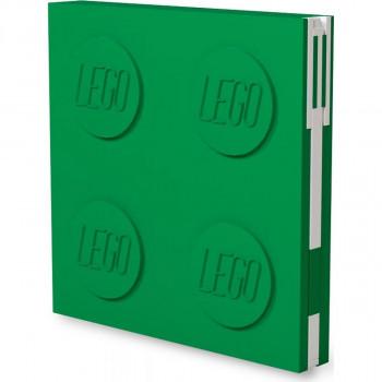 LEGO® 2.0 Zápisník s gelovým perem jako klipem zelený