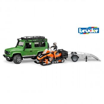 Bruder 02594 Land Rover Defender Station Wagon s přívěsem