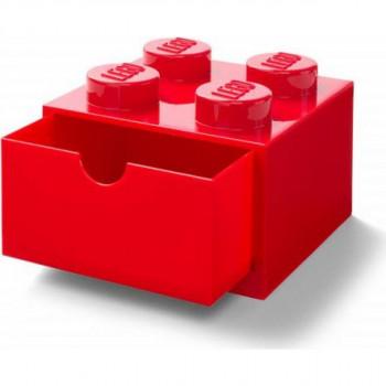 LEGO® úložný box 4 se šuplíky červený