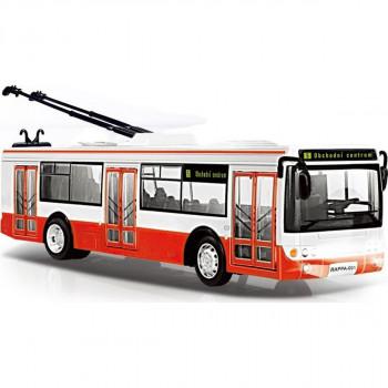 Rappa Trolejbus hlásící zastávky v češtině s funkčními dveřm