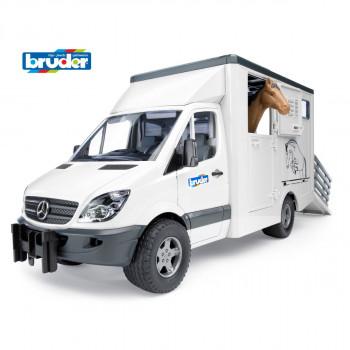 Bruder 2533 Mercedes Benz přeprava koní + kůň