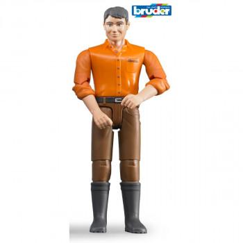 Bruder 60007 Figurka Muž hnědé kalhoty