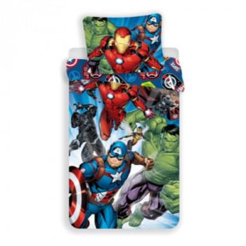 Jerry Fabrics Povlečení Avengers Brands 140x200, 70x90 cm