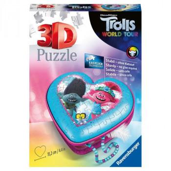 3D Srdce Trolové 54 dílků