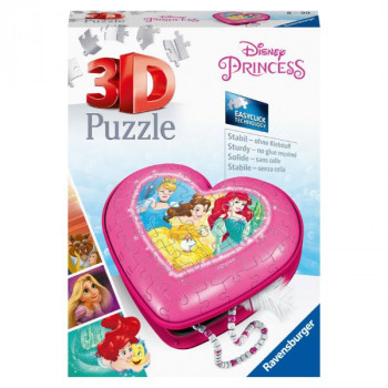 3D Srdce Disney princezny 54 dílků