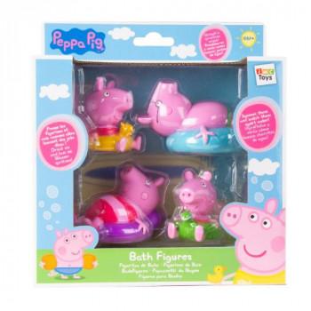Peppa Pig figurky do koupele 4ks