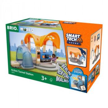 BRIO Smart Tech Sound Vlaková stanice s tunelem