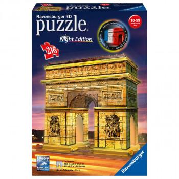 Ravensburger 3D Puzzle 125227 Vítězný oblouk Noční edice 216
