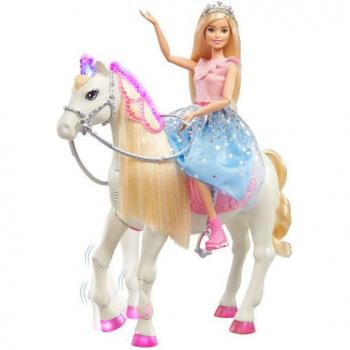 Barbie Princess Adventure Princezna a kůn se světly a zvuky