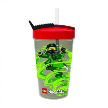 LEGO Ninjago Classic láhev s brčkem - červená