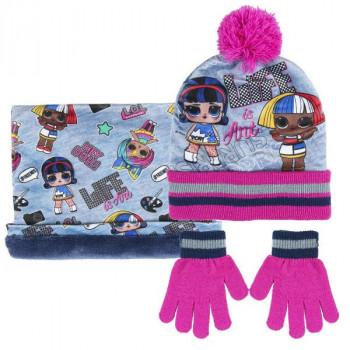 LOL zimní set nákrčník, rukavice, čepice