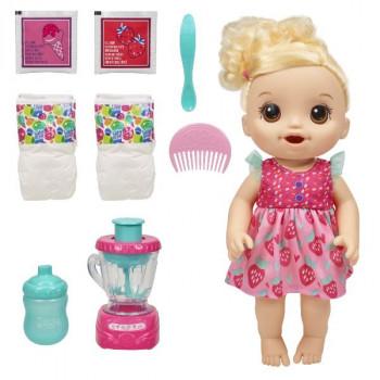 Baby Alive blonďatá panenka s magickým mixerem