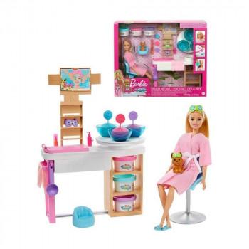 Mattel Barbie Salón krásy herní set s běloškou
