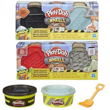 Play-Doh Wheels Stavební modelína červená a šedá