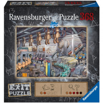 Ravensburger puzzle Exit Puzzle: V továrně na hračky 368 díl