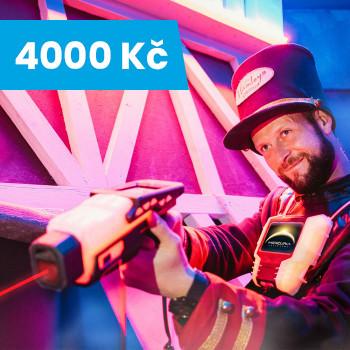Voucher na Laser Game v Hamleys - 4 000 Kč