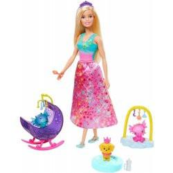 Barbie pohádkový herní set s panenkou Princezna s dlouhou sukní