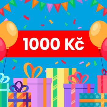 Dárkový voucher na nákup na Jabadaba - 1000 Kč (doručení online)