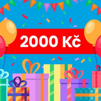 Dárkový voucher na nákup na Jabadaba - 2000 Kč (doručení online)