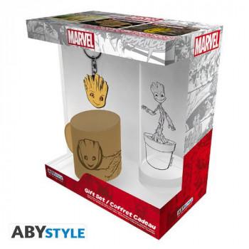 Marvel - Dárkové balení sklenička, klíčenka a hrníček Groot