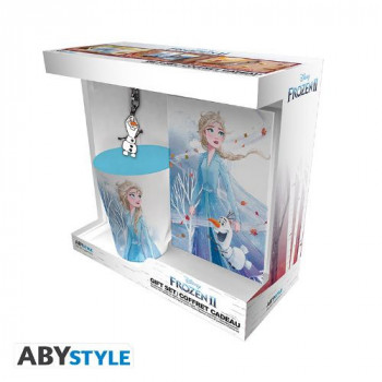 Frozen - Dárkové balení hrnek, klíčenka a zápisník Elsa