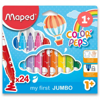 Fixy Maped Color' Peps Early Age Jumbo 24 ks