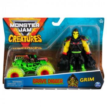 Monster Jam kovové auto s figurkou