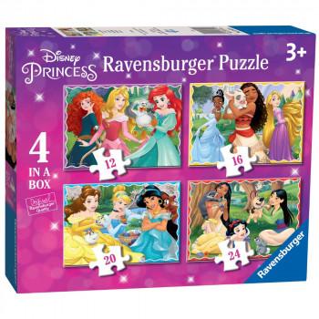 Ravensburger Puzzle 030798 Disney kouzelné princezny 4 v 1