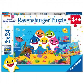 Ravensburger Puzzle 051243 Malý žralok a jeho rodina 2x24 dí