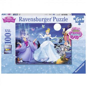 Ravensburger Puzzle 136711 Třpytivé puzzle Rozkošná Popelka