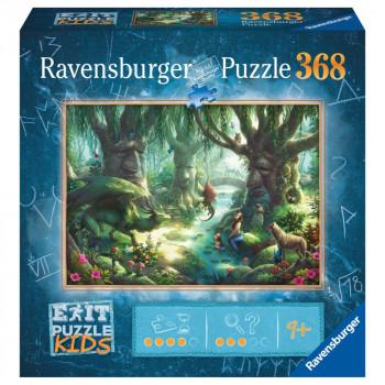 Ravensburger Puzzle 129553 Exit KIDS Puzzle: V magickém lese