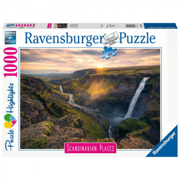 Ravensburger Puzzle 167388 Skandinávie Vodopád Haifoss, Isla