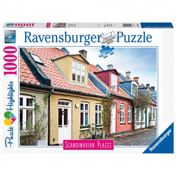 Ravensburger Puzzle 167418 Skandinávie Aarhus, Denmark  1000