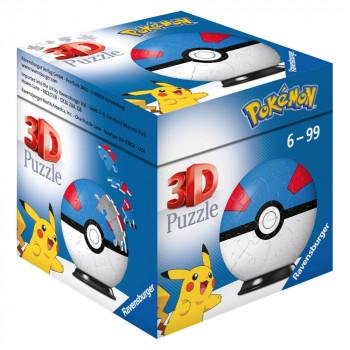Ravensburger 3D Puzzle 112654 Puzzle-Ball Pokémon Motiv 2