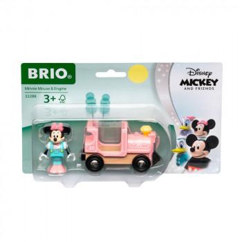 BRIO World 32288 Disney and Friends Lokomotiva Myšky Minnie