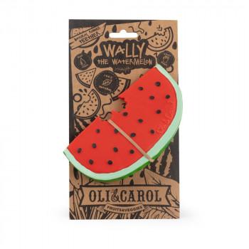 Oli and Carol kousátko Wally the watermelon