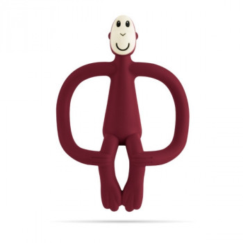 Matchstick Monkey Teething Toy - CLARET
