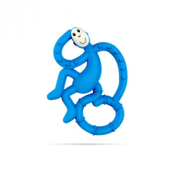 Mini Monkey Teether - LIGHT BLUE