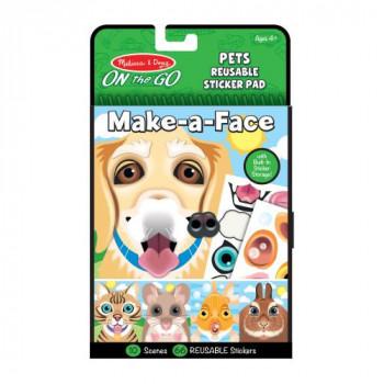 Melissa & Doug Vytvoř obličej - Domácí mazlíčci