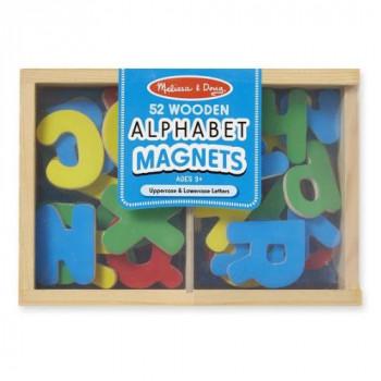 Melissa & Doug Dřevěná magnetická abeceda 52 ks