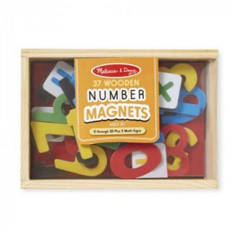 Melissa & Doug Dřevěné magnetické číslice 37 ks