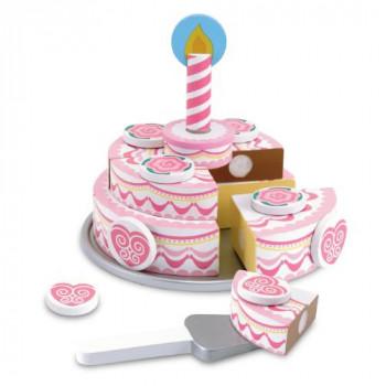 Melissa & Doug Dřevěný třípatrový narozeninový dort