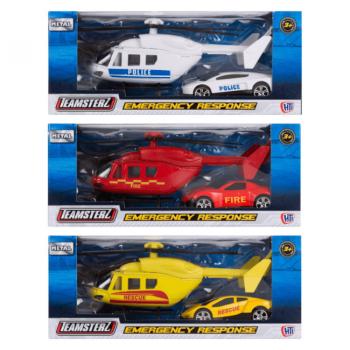 Hamleys Záchranářská sada helikoptéry a auta