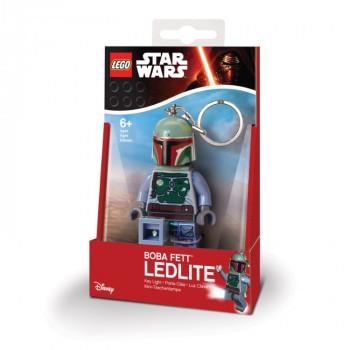 Přívěsek na klíče LEGO svítící Star Wars Boba Fett