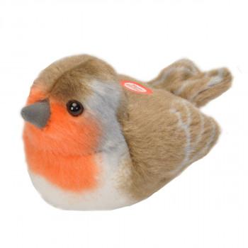 Plyšový pták se zvuky Červenka